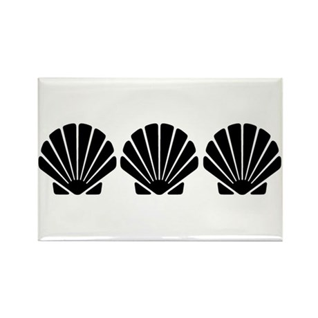 Three Sea Shells Rectangle Magnet