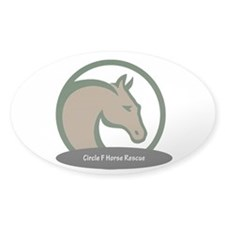 Circle F logo Sticker in clear or white