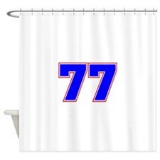 NUMBER 77 Shower Curtain