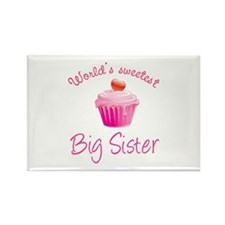 World's sweetest big sister Rectangle Magnet