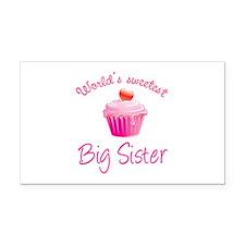 World's sweetest big sister Rectangle Car Magnet
