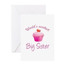 World's sweetest big sister Greeting Card