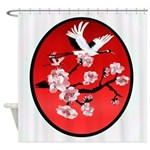 Flying Crane and Sun Shower Curtain