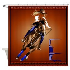 Barrel Horse Shower Curtain