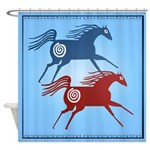 Two Ancient Horses Shower Curtain