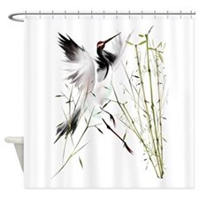 One Crane Trans.png Shower Curtain