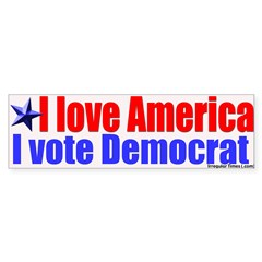 Love America Vote Democrat Bumpersticker
