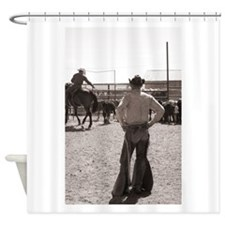 Branding Calves Shower Curtain