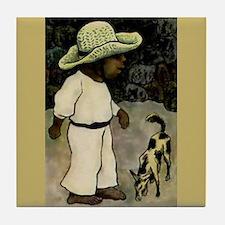 Diego Rivera Boy with Dog Ceramic Art Tile Coaster