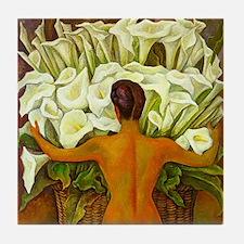 Diego Rivera Nude w/ Cala Lilies Art Tile Coaster
