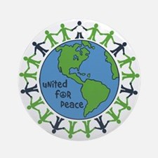 United For Peace Ornament (Round)