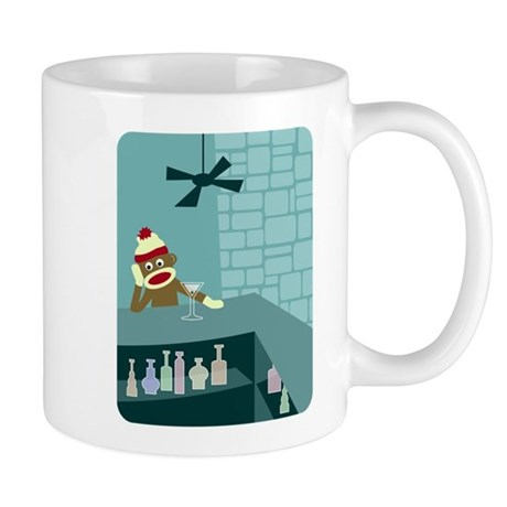 Sock Monkey Martini Bar Coffee Mug
