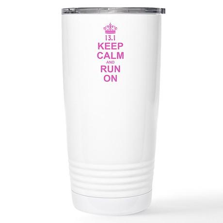 run pink 13.1.png Stainless Steel Travel Mug