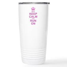 run pink 13.1.png Travel Coffee Mug