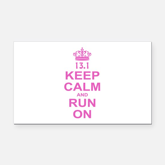 run pink 13.1.png Rectangle Car Magnet