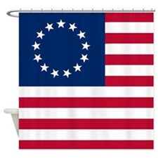 Betsy Ross United States Flag Shower Curtain