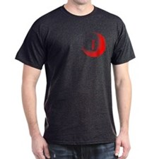 RED 2 TONE SLIT PKT DARK T-Shirt