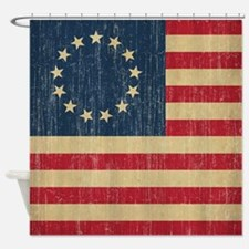 Vintage Betsy Ross Flag Shower Curtain