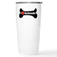 I Love My Rottweiler - Dog Bone Travel Mug
