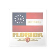 "Florida Deo Vindice Square Sticker 3"" x 3"""