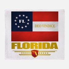 Florida Deo Vindice Throw Blanket