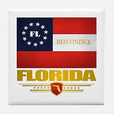 Florida Deo Vindice Tile Coaster