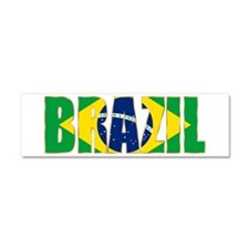 Brazil Car Magnet 10 x 3