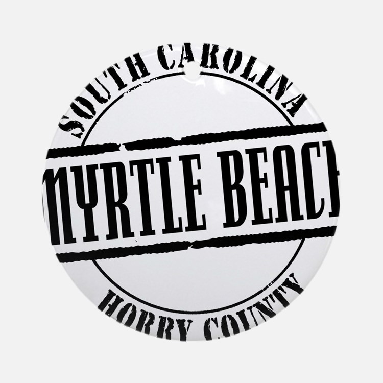 Myrtle Beach Title Ornament (Round)