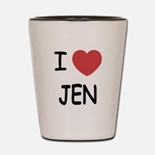 I heart JEN Shot Glass