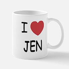 I heart JEN Mug
