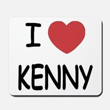 I heart KENNY Mousepad