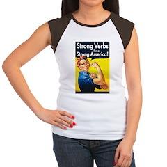 Strong Verbs Women's Cap Sleeve T-Shirt