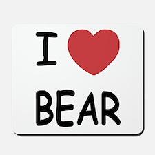 I heart BEAR Mousepad
