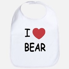 I heart BEAR Bib