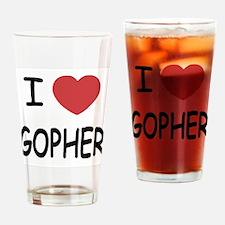 I heart GOPHER Drinking Glass