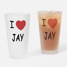 I heart JAY Drinking Glass
