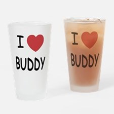 I heart BUDDY Drinking Glass