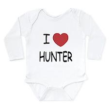 I heart HUNTER Long Sleeve Infant Bodysuit