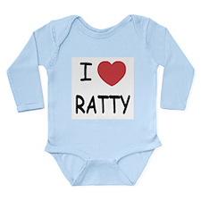 I heart RATTY Long Sleeve Infant Bodysuit