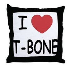 I heart T-BONE Throw Pillow