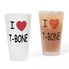 I heart T-BONE Drinking Glass