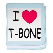 I heart T-BONE baby blanket