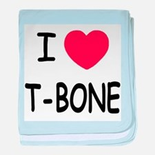 I heart T-BONE baby blanket
