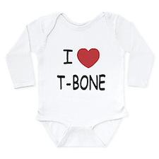 I heart T-BONE Long Sleeve Infant Bodysuit