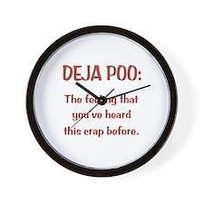 Deja Poo Wall Clock