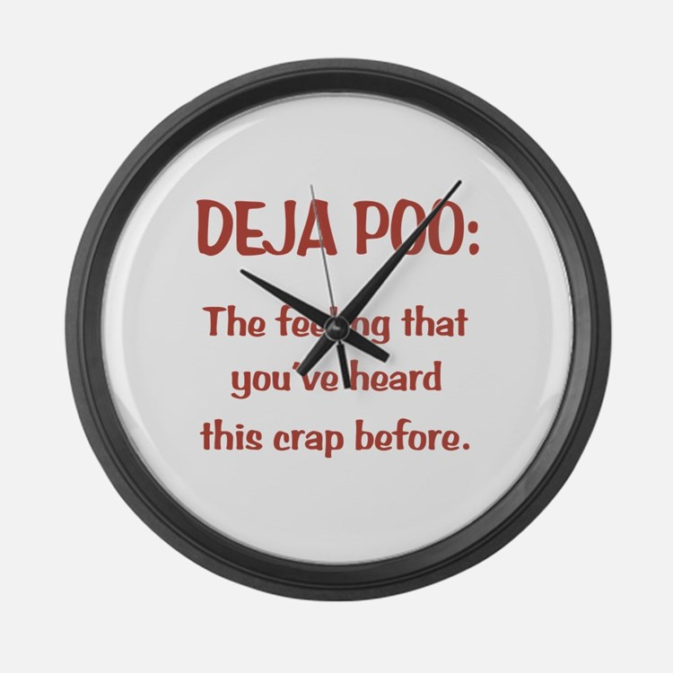 Deja Poo Large Wall Clock