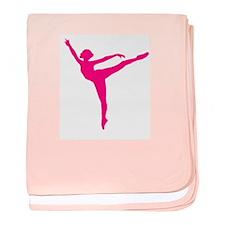 Ballet Arabesque baby blanket