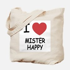 I heart MISTER HAPPY Tote Bag