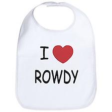 I heart ROWDY Bib