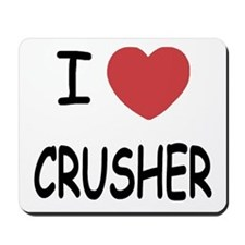 I heart CRUSHER Mousepad